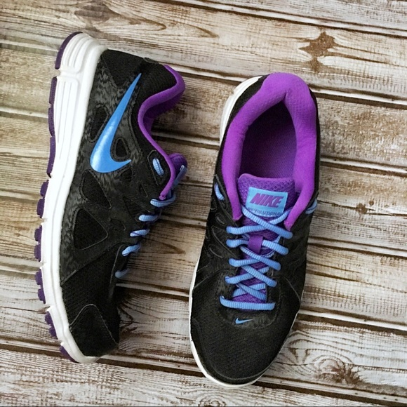 Nike Revolution 2 Running Shoes Black/Blue/Purple